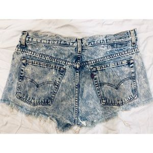 Vintage Acid Wash Destroyed Levi's Shorts